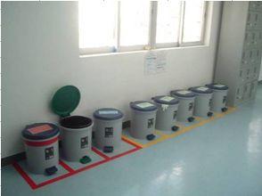 見える化 ゴミ箱の分別管理
