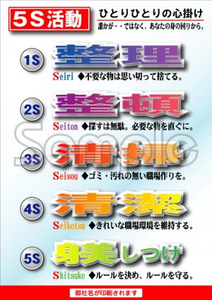 5Sポスター| 5S標語