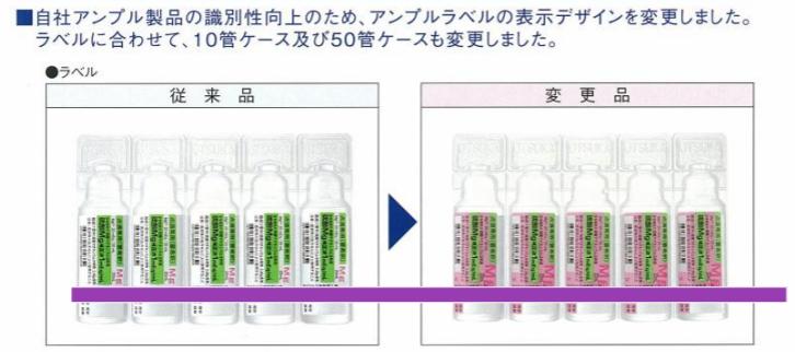 薬剤外装ラベルの色別化