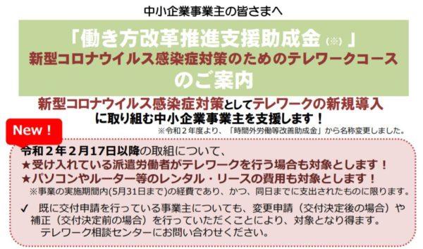 テレワーク 助成金 厚生労働省、東京都